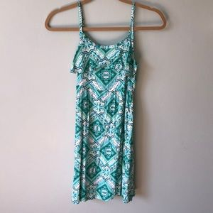 Justice neon green print sundress